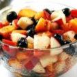 Рецепт фруктового салата с черникой и тимьяном