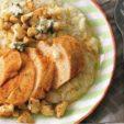 Как приготовить куриную грудку с пюре из цветной капусты и голубым сыром