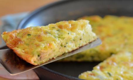 омлет с кабачками, завтрак, рецепт омлета
